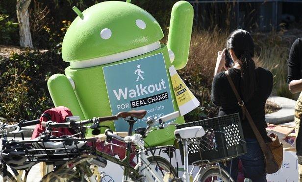 Google walkout sign