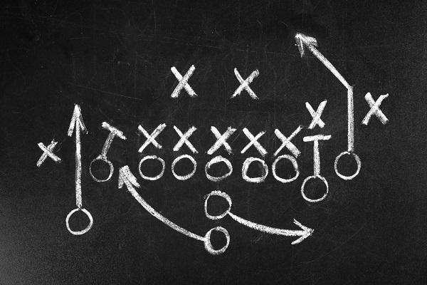P{alybook strategy on chalkboard