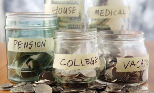 labeled money jars