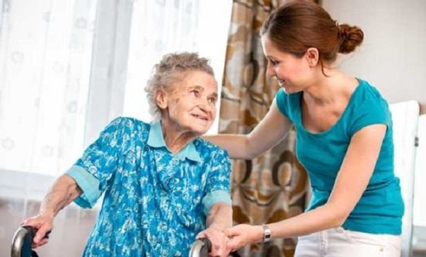 Caregiver and older woman