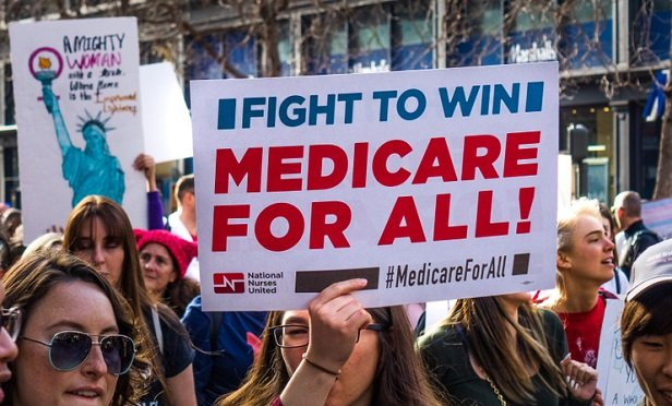 Medicare for All rally sign