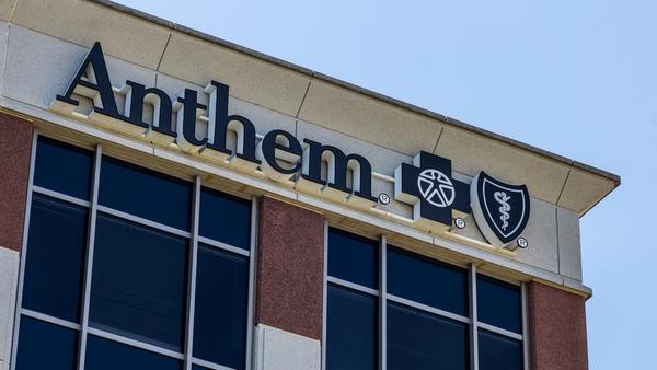 Anthem sign on building