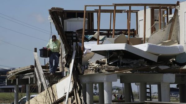 home demolished by hurricane