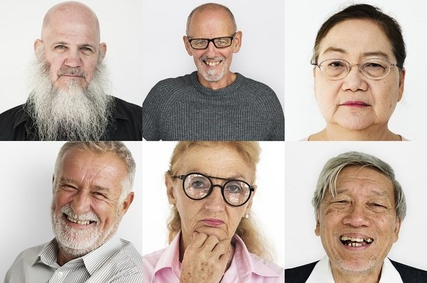 collage of many older people's faces