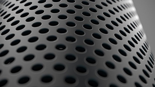close up of Alexa speaker device