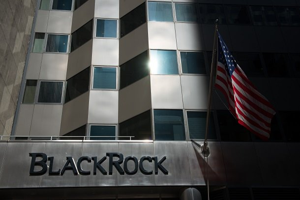 BlackRock sign on building