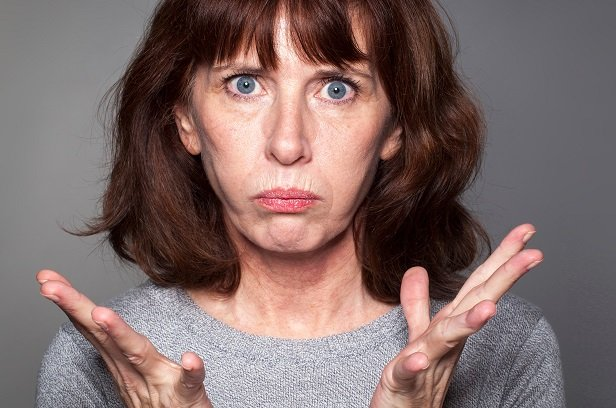 exasperated-looking woman