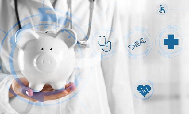 Piggy bank and health concepts