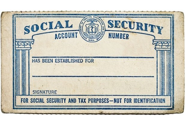 photo of blank Social Security card