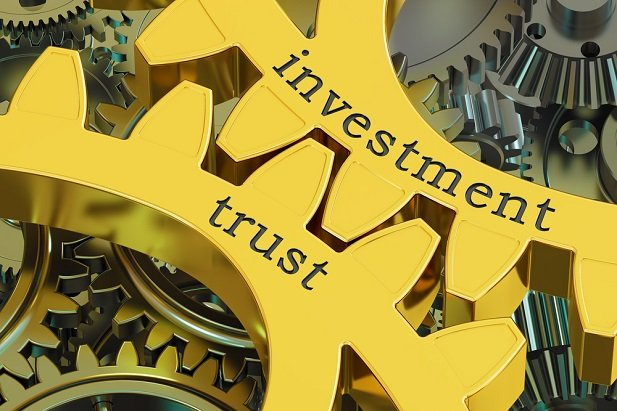 gears labeled investment and trust