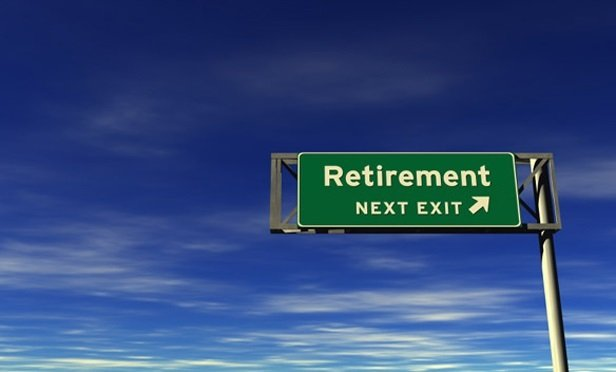 sign saying exit retirement