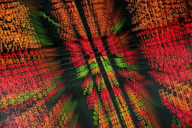 blurred stock market numbers