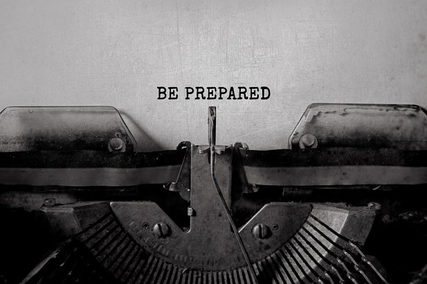 typed words be prepared