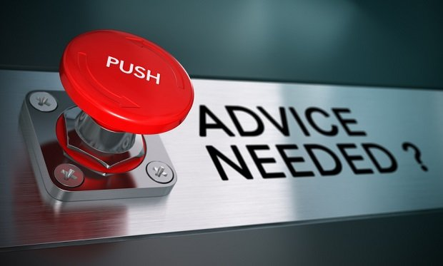 Advice button