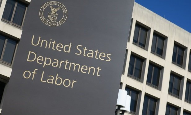 Labor Department sign and building