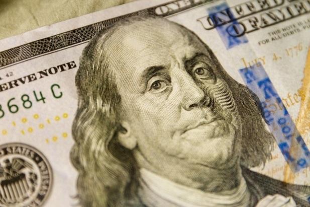 U.S. money with Benjamin Franklin