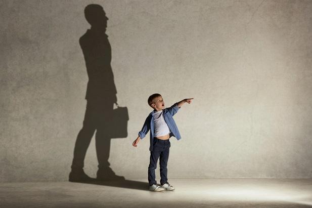 boy whose shadow is a man