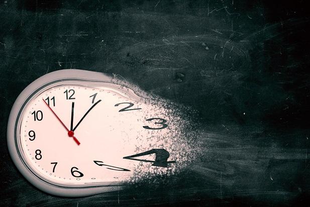 dissolving clock