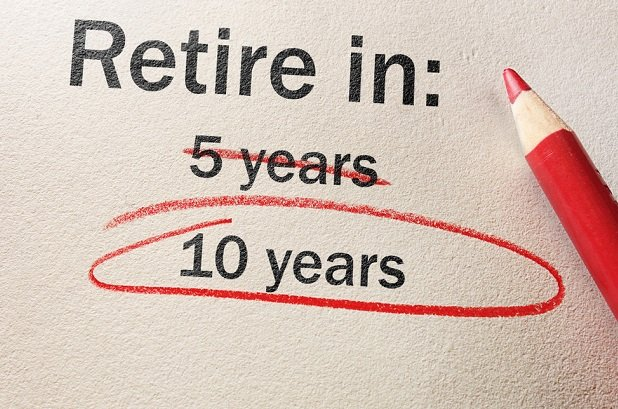 phrase retire in 5 years crossed out