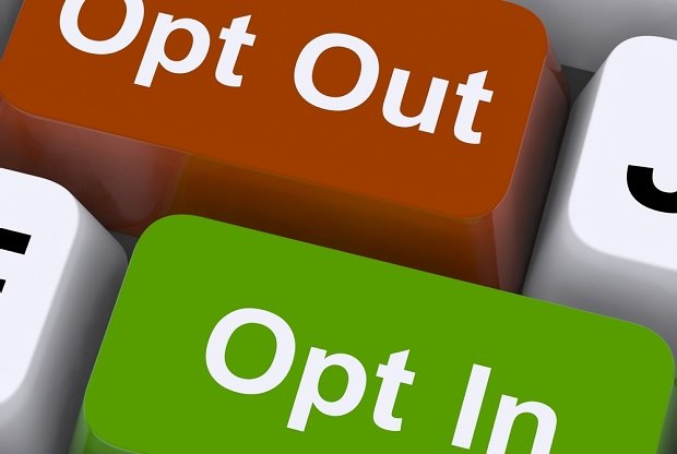 Opt in opt out computer keys
