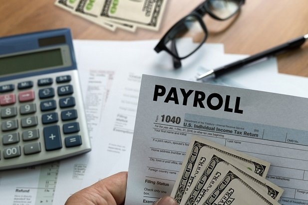 Payroll stub and cash