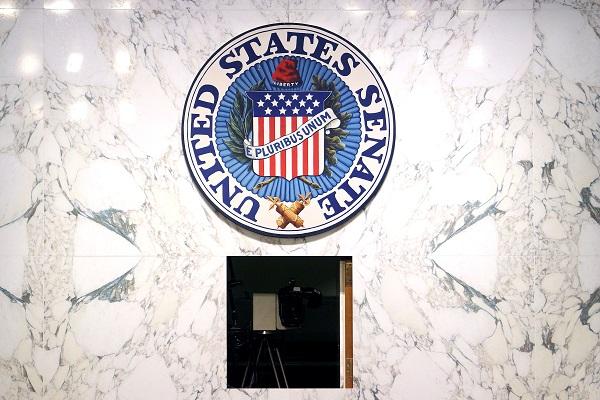 the U.S. Senate logo and seal