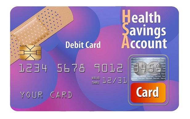 Purple stylized HSA card