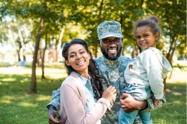 military service person and family