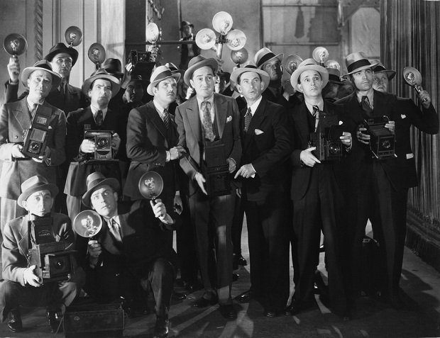 old photo of newspaper photographers