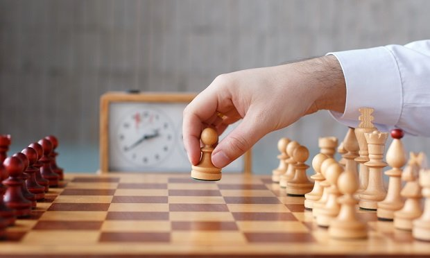 Chess board and pawn