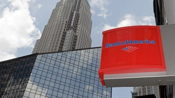 bank of america skyscraper and bank of america logo