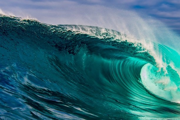 giant blue-green wave
