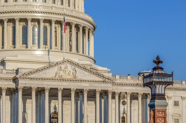 closeup of U.S. capitol building