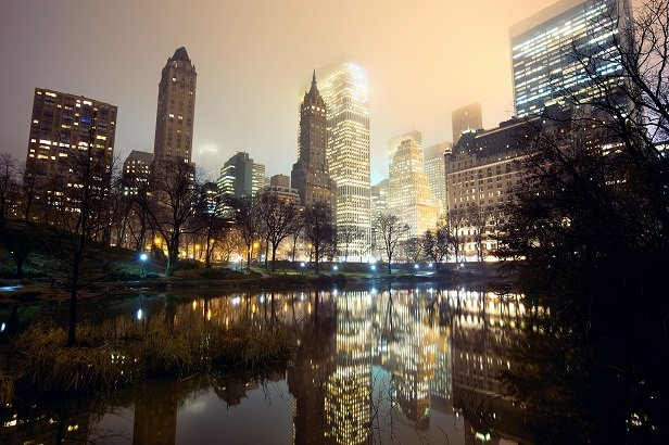 evening photo of Manhattan