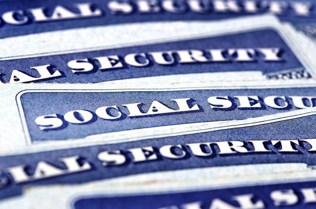 collage of social security card tops