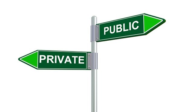 Public and Private street signs