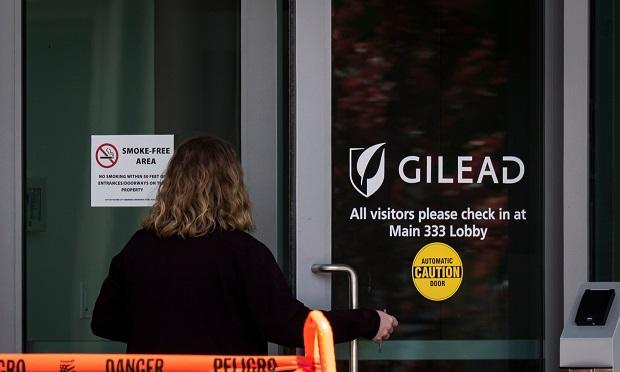 Person entering Gilead building