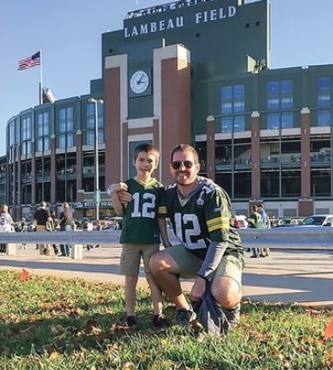 Drew Leatherberry at Lambeau