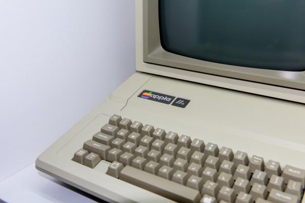 old Apple IIc computer