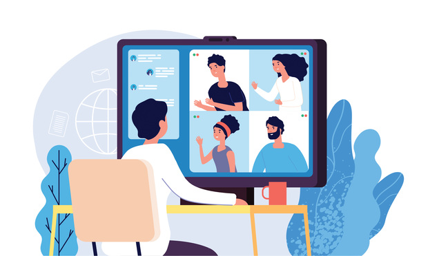 Illustration of videoconference