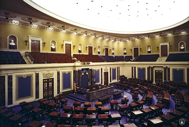U.S. Senate Chamber, empty
