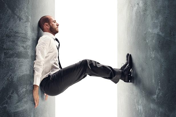 Stress man and walls