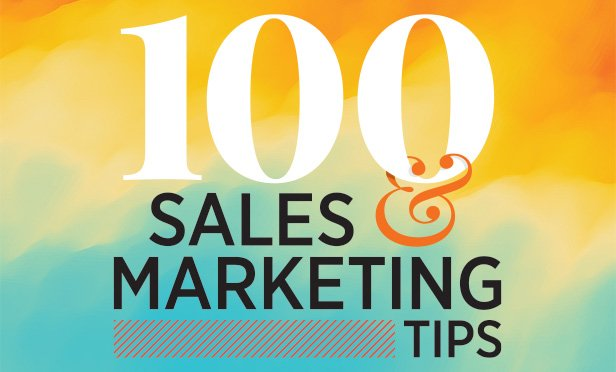 100 sales and marketing tips logo