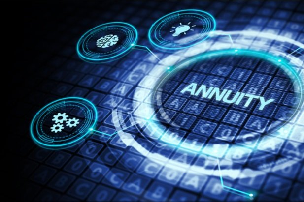 abstract image of blue dial that says Annuity