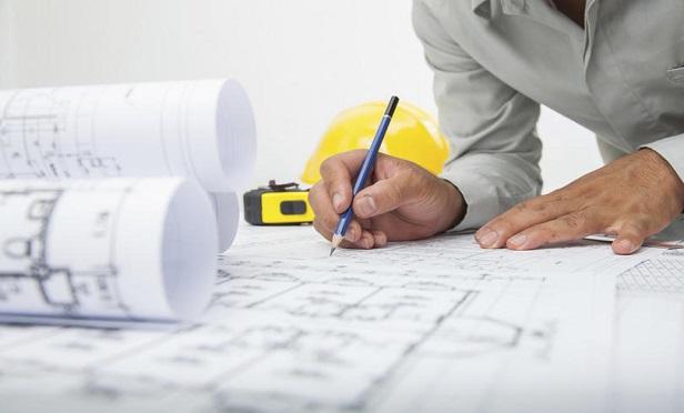 An architect making a blueprint