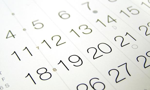 A little bit of a calendar