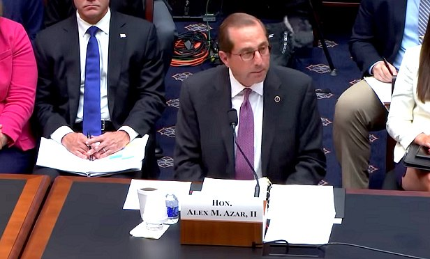 Alex Azar II testifies at a House Education and the Workforce hearing on HHS priorities. (Photo: House Education and the Workforce Committee)