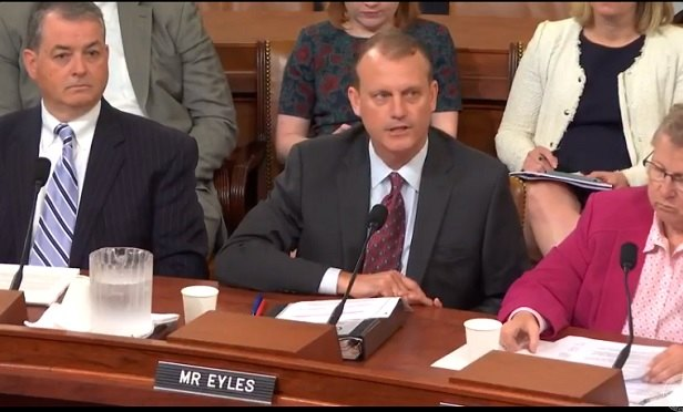 Matt Eyles of AHIP testifies on June 6 at a hearing on health accounts organized by the House Ways and Means health subcommittee. (Photo: House Ways and Means)