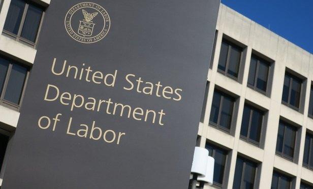 Labor Department headquarters in Washington. (Photo: Mike Scarcella/ALM)
