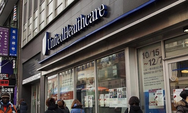 A UnitedHealth Group Inc. storefront in Queens. (Photo: Michael Nagle/BB)
